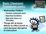 basic classroom procedures cont