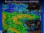 radar observations 830am