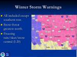 winter storm warnings
