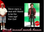 steve signs a deal with mattel to be the new age ken doll