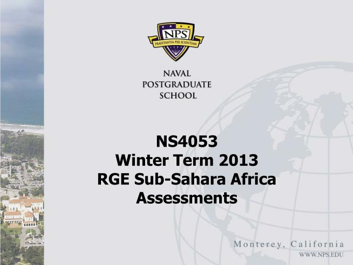 ns4053 winter term 2013 rge sub sahara africa assessments n.