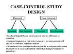 case control study design