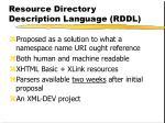 resource directory description language rddl1