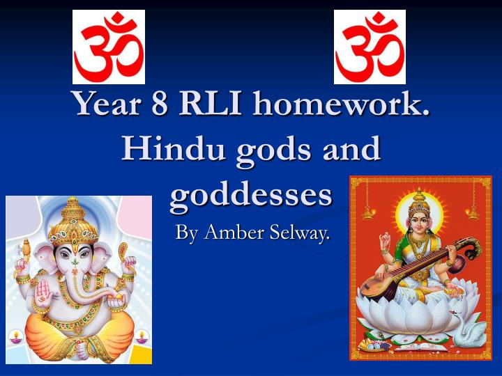 year 8 rli homework hindu gods and goddesses n.