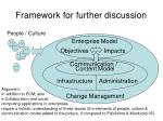 framework for further discussion
