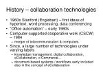 history collaboration technologies