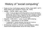 history of social computing