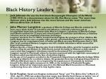 black history leaders