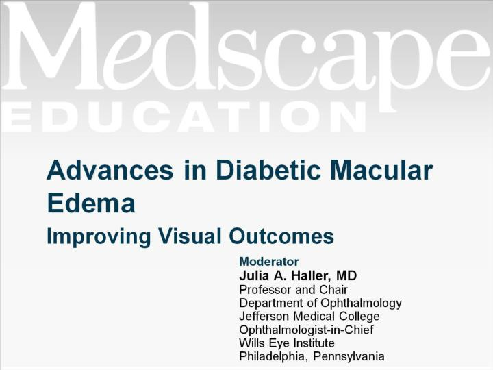 advances in diabetic macular edema n.