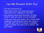 can we prevent h1n1 flu