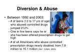 diversion abuse