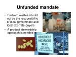 unfunded mandate