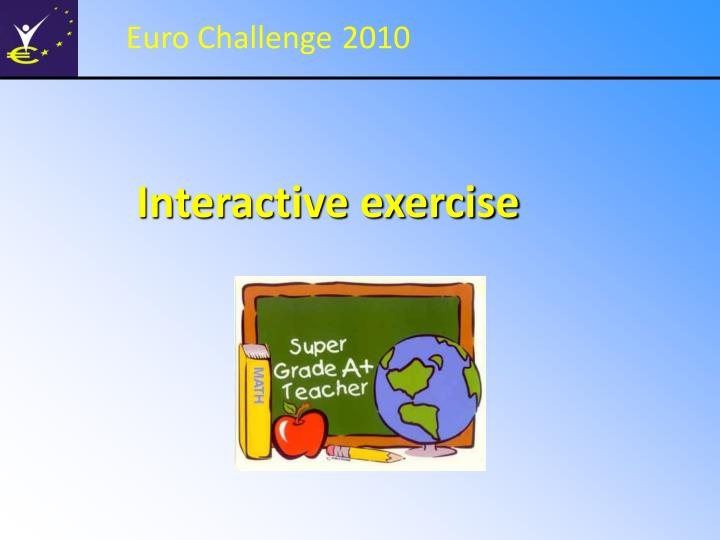 interactive exercise n.