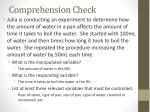 comprehension check1