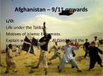 afghanistan 9 11 onwards