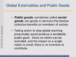 global externalities and public goods