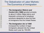 the globalization of labor markets the economics of immigration1