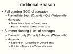 traditional season