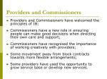 providers and commissioners
