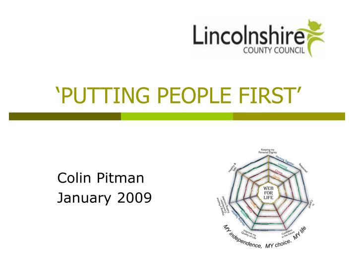 putting people first n.