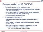 recommendations @ posipol