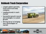 oshkosh truck corporation