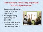 the teacher s role is very important and his objectives are