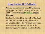 king james ii catholic