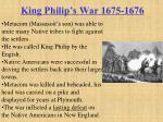 king philip s war 1675 1676