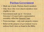 puritan government