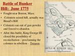 battle of bunker hill june 1775