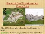 battles of fort ticonderoga and crown point