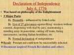 declaration of independence july 4 1776