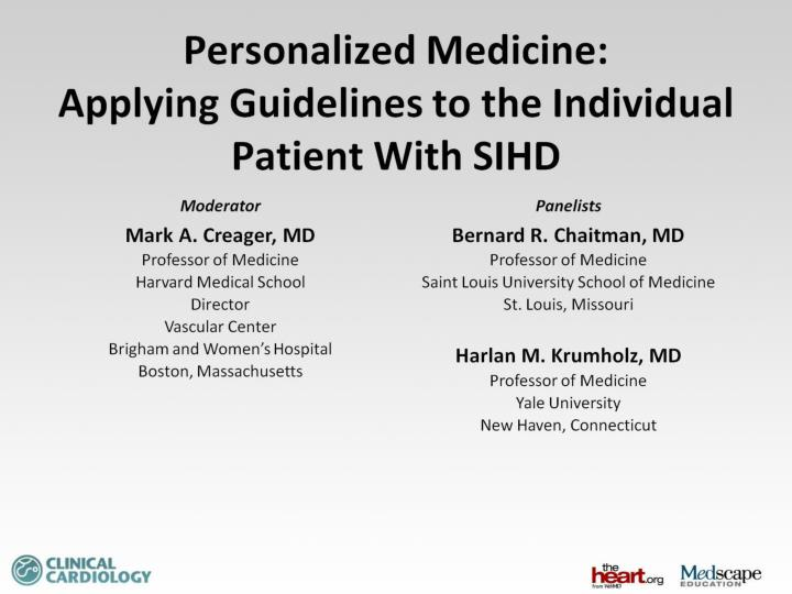 personalized medicine applying guidelines to the individual patient with sihd n.