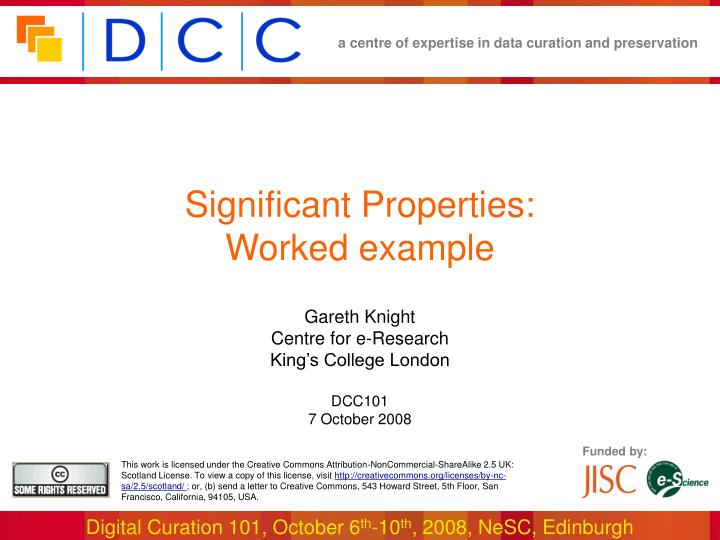 significant properties worked example n.