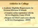 athletics in college