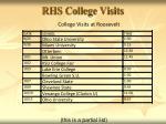 rhs college visits