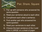 pair share square