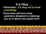 it is okay
