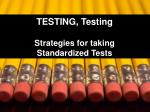 testing testing strategies for taking standardized tests