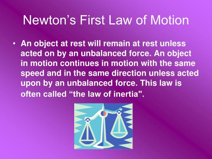Newton's First Law of Motion