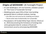 origins of geoshare uk foresight project