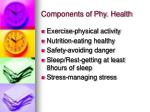 components of phy health