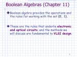 boolean algebras chapter 11