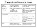 characteristics of generic strategies