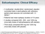 eslicarbazepine clinical efficacy