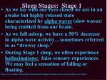 sleep stages stage 1