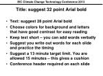title suggest 32 point arial bold