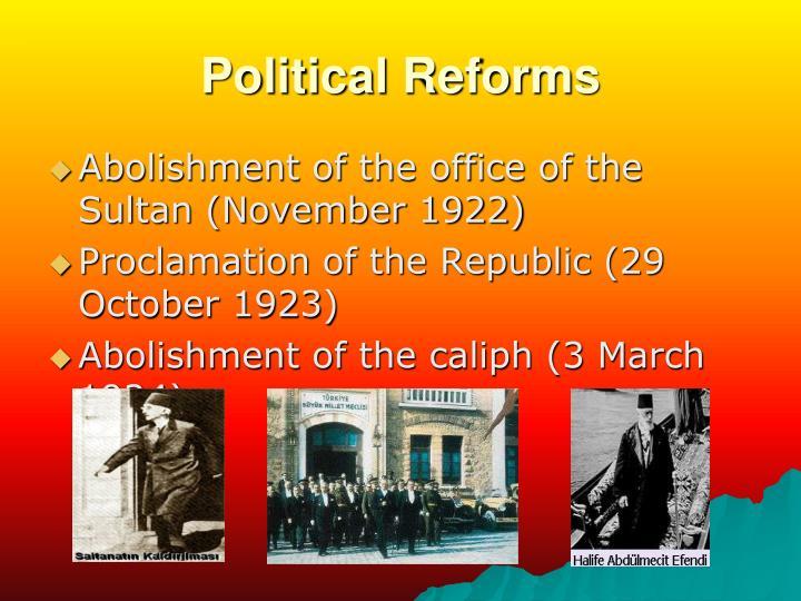 Political Reforms