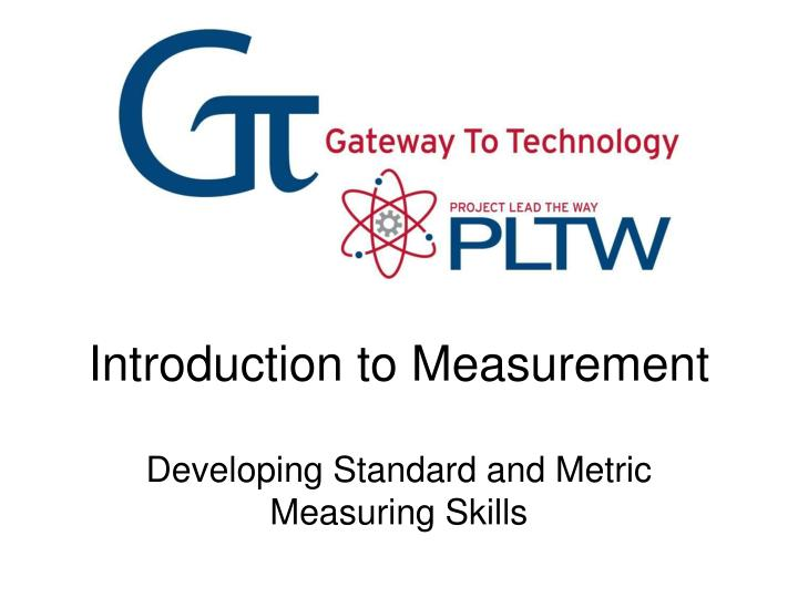 introduction to measurement n.